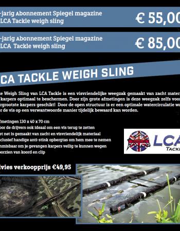 1 of 2 jarig abonnement Spiegel magazine met LCA weigh sling