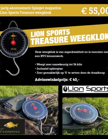 1-jarig abonnement Spiegel magazine met een Lion Sports treasure weegklok