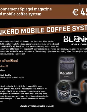 1-jarig abonnement Spiegel magazine met een Blenkerd mobile coffee system